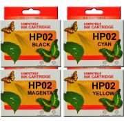 HP 02 Ink Cartridge Compatible x 4 (Set of 4)