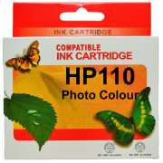 HP 110 Photo Colour Ink Cartridges Remanufactured