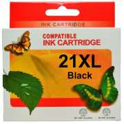 HP21XL Black Ink Cartridge Remanufactured