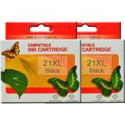 HP 21XL Black Ink Cartridge Remanufactured X 2