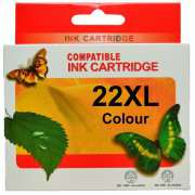 HP22XL Colour Ink Cartridges Remanufactured