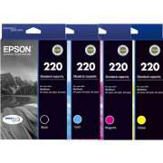 Genuine Epson 220 Ink Cartridges (Full Set)