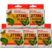 T273XL Epson Ink Cartridge Compatible x 5 (Including Photo Black)