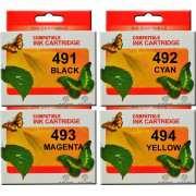 T0491 2/3/4 Epson Ink Cartridges Compatible (Set of 4)
