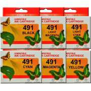 T0491 2/3/4/5/6 Epson Ink Cartridges Compatible x 6 (Full Set)