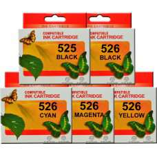 PGI525 CLI526 Canon Ink Cartridges Compatible. x 5 (Full Set)