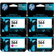 Genuine HP 564 Ink Cartridge  x 4 (Full Set)