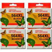 HP 564XL Ink Cartridge Compatible x 4 (Full Set)