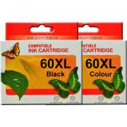 HP 60XL Ink Cartridge Remanufactured x 2 (Full Set)