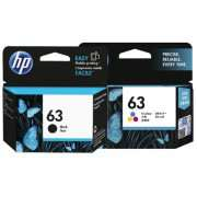 Genuine HP63 Black and Colour Ink Cartridge