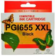 PGI 655XXL Black Canon Ink Cartridge Compatible