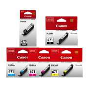 PGI 670 CLI 671 Genuine Canon Ink Cartridges x 5