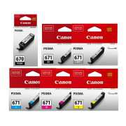 PGI 670 CLI 671 Genuine Canon Ink Cartridges x 6