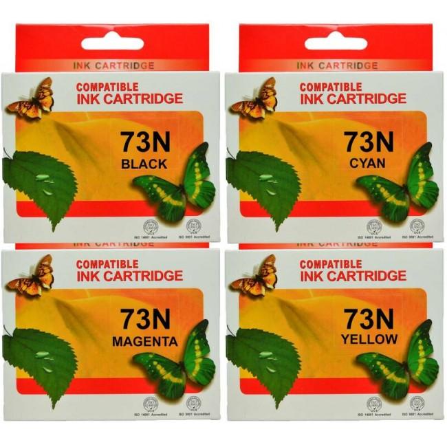 73N Epson Ink Cartridges Compatible x 4 (Full Set)