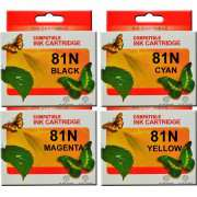 81N Epson Ink Cartridges Compatible x 4 (Set of 4)
