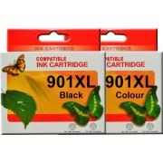 HP 901XL Black HP 901XL Tri-Colour Ink Cartridges  (Full Set)