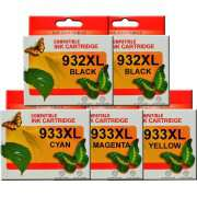 HP 932XL HP 933XL Ink Cartridges x 5 (Extra Black)