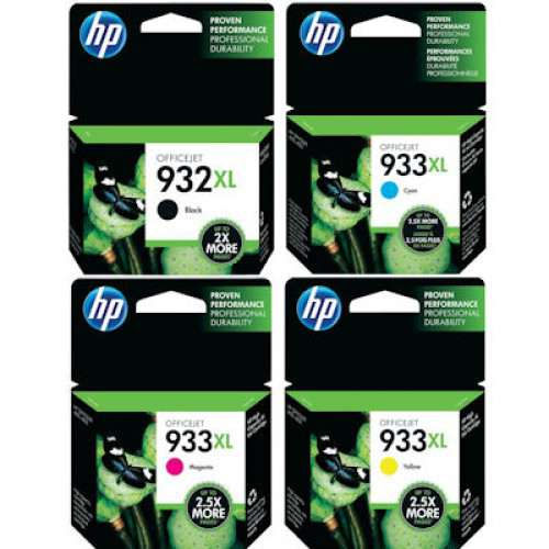 genuine hp 932xl 933xl ink cartridge x 4. Black Bedroom Furniture Sets. Home Design Ideas