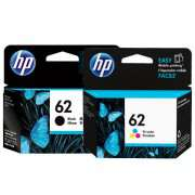 Genuine HP62 Black and Colour Ink Cartridges