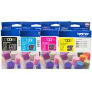 Genuine LC133 Brother Ink Cartridges x4 (Full Set)