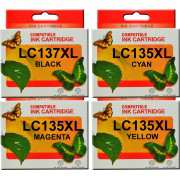 LC137XL LC135XL Brother Ink Cartridge x 4 (Full Set)