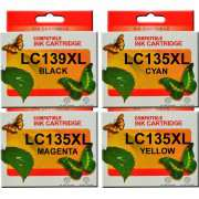 LC139XL LC135XL Brother Comp. Ink Cartridge x4 (Full Set)