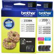 Genuine LC233 Brother Ink Cartridges x 4 (Full set)