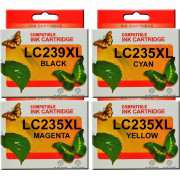LC239XL LC235XL Brother Ink Cartridge Compatible x 4