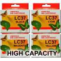 LC37 (LC57) High Capacity Brother Cartridges x 4 (Full Set)