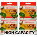 LC38 (LC67) High Capacity Brother Cartridges Compatible x 4 (Full Set)