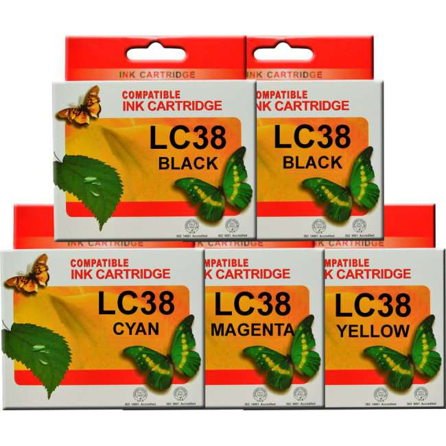 LC38 (LC67) Brother Ink Cartridges Compatible x 5