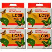 LC39 Brother Ink Cartridges Compatible x 4 (Full Set)