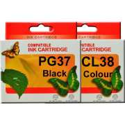 PG37 CL38 Canon Ink Cartridge Remanufactured (Full Set)