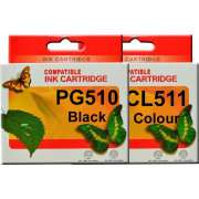 PG510 CL511 Canon Ink Cartridge Remanufactured (Full Set)