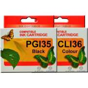 PGI35 CLI36 Canon Ink Cartridge Compatible (Full Set)