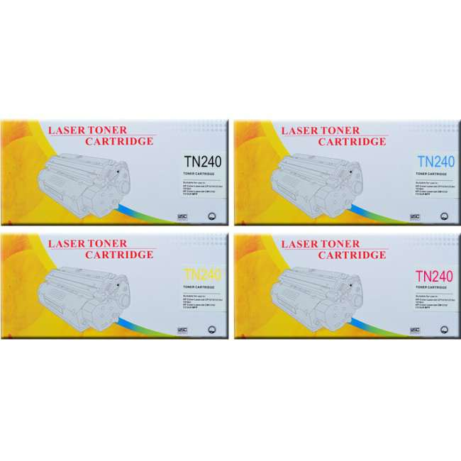 Brother TN240 Toner Compatible Cartridge x 4
